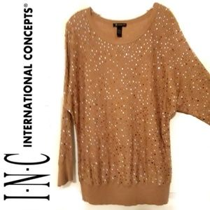 Cute Loose Fit Embellished Sweater